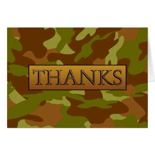 Olive Drab Camo Thanks Card by Heard_