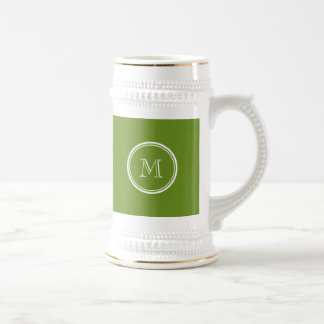 Olive Drab High End Colored Beer Stein