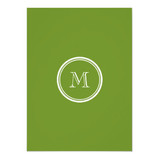 Olive Drab High End Colored 5.5x7.5 Paper Invitation Card