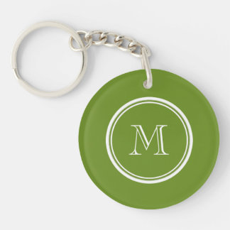 Olive Drab High End Colored Keychain