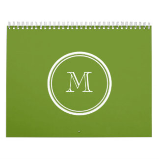Olive Drab High End Colored Wall Calendar