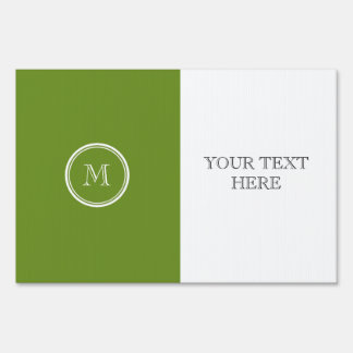 Olive Drab High End Colored Sign