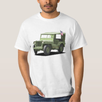 Olive Drab MJ Military Vehicle T-Shirt