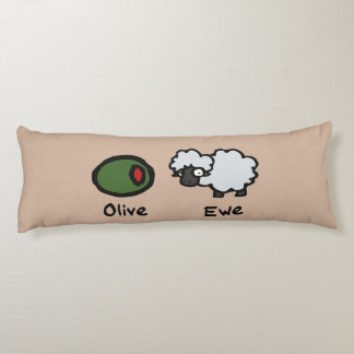 Olive Ewe (I Love You) Body Pillow