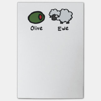 Olive Ewe (I Love You) Post-it® Notes
