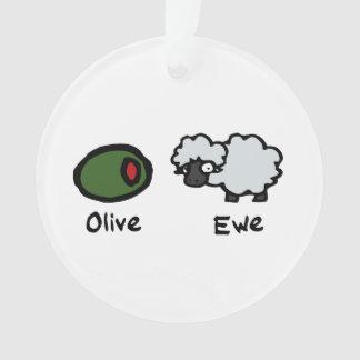 Olive Ewe Ornament