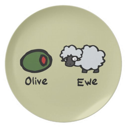 Olive Ewe Party Plate