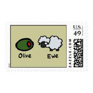 Olive Ewe Postage