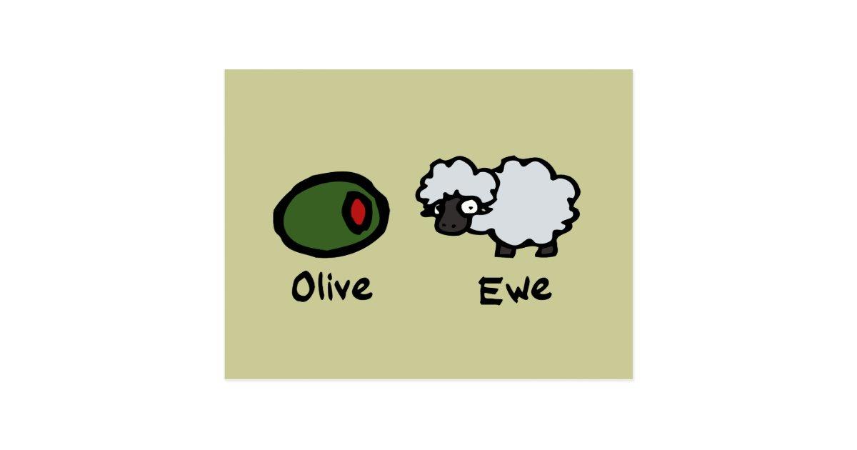 Olive Ewe Postcard | Zazzle.com