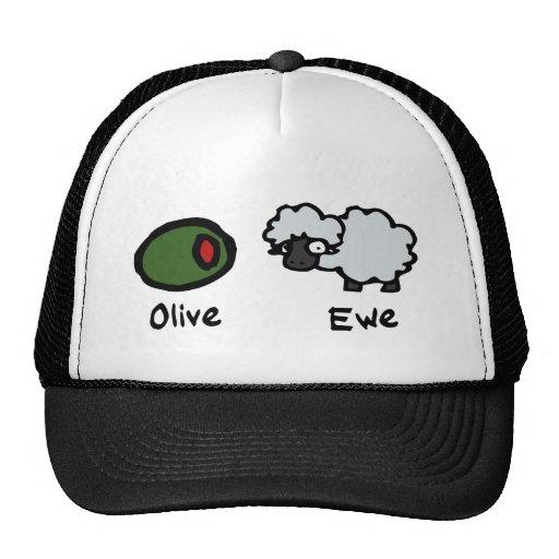 Olive Ewe Trucker Hats