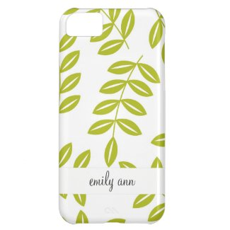 Olive fern on White Pattern Case For iPhone 5C