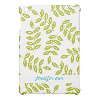 Olive fern on White Pattern iPad Mini Case