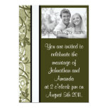 "Olive Floral 5"" X 7"" Invitation Card"