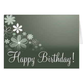 "Olive Floral ""Birthday Card"" Card"
