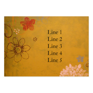 Olive Flowers Large Business Cards (Pack Of 100)