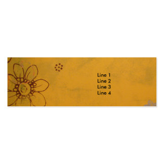 Olive Flowers Double-Sided Mini Business Cards (Pack Of 20)