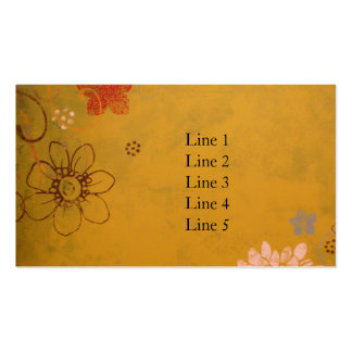 Olive Flowers Double-Sided Standard Business Cards (Pack Of 100)