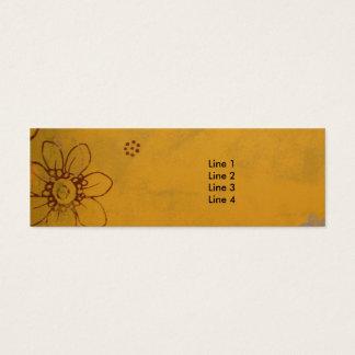 Olive Flowers Mini Business Card