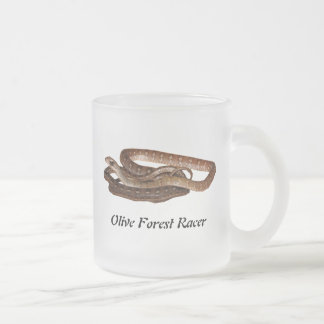 Olive Forest Racer 10 Oz Frosted Glass Coffee Mug