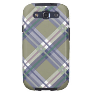 Olive Gray Plaids, Checks, Tartans Samsung Galaxy S3 Cases