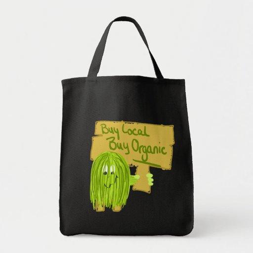 Olive Greeen Buy local Buy Organic Tote Bag