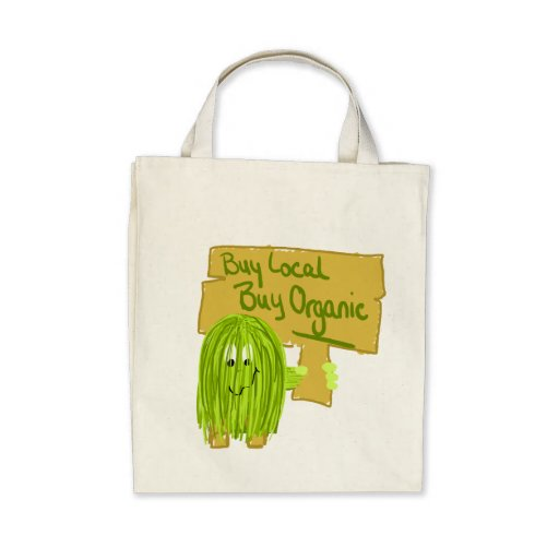 Olive Greeen Buy local Buy Organic Canvas Bags