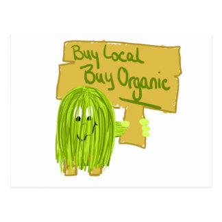 Olive Greeen Buy local Buy Organic Postcard