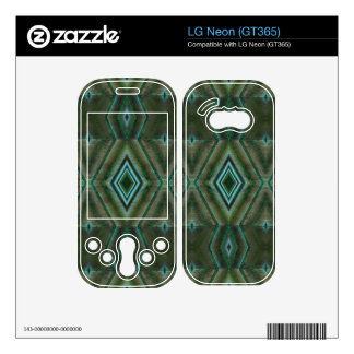 olive green abstract skin for LG neon