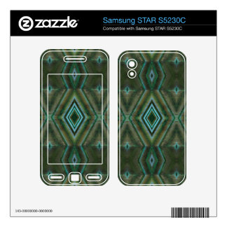 olive green abstract samsung STAR S5230C skins