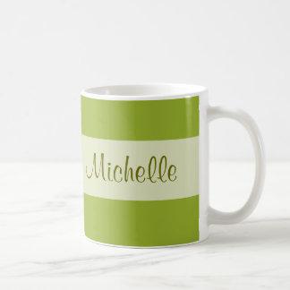 olive green Add your Name Classic White Coffee Mug