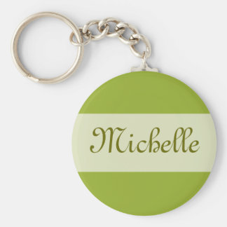 olive green Add your Name Keychain
