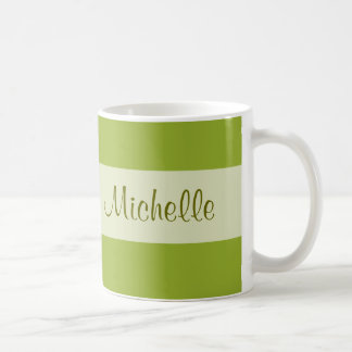 olive green Add your Name Coffee Mugs