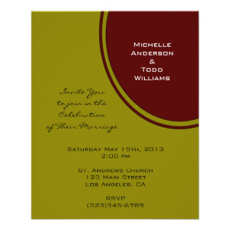 Olive Green and Brown Modern Wedding Flyer