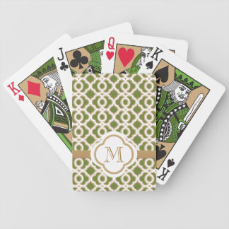 Olive Green and Gold Deck Of Cards