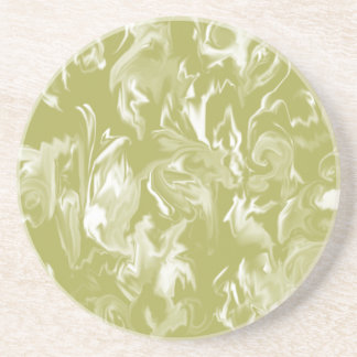 Olive Green and white mixed color coaster