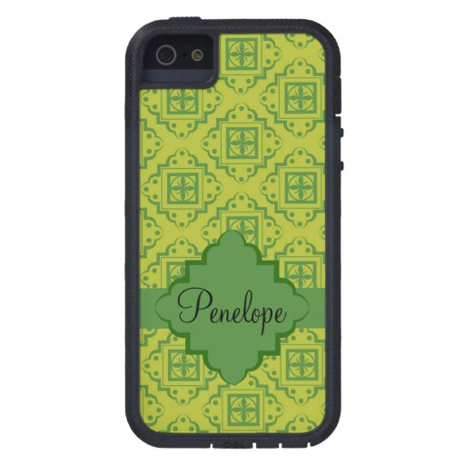 Olive Green Arabesque Moroccan Graphic Pattern iPhone 5 Case