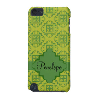 Olive Green Arabesque Moroccan Graphic Pattern iPod Touch 5G Covers