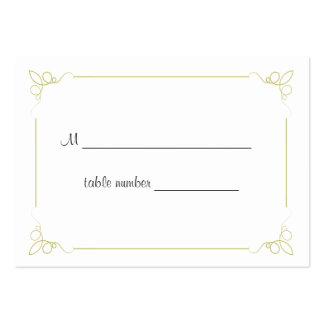 Olive Green Art Deco Wedding Table Place Card Large Business Cards (Pack Of 100)