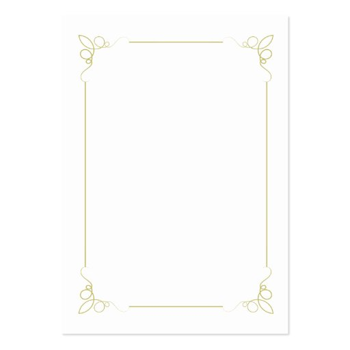 Olive Green Art Deco Wedding Table Place Card Business Cards (back side)