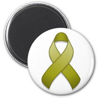 Olive Green Awareness Ribbon Magnet