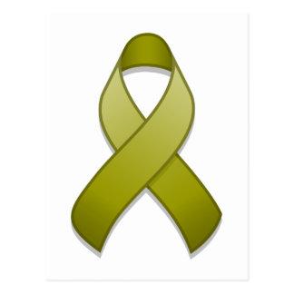 Olive Green Awareness Ribbon Postcard