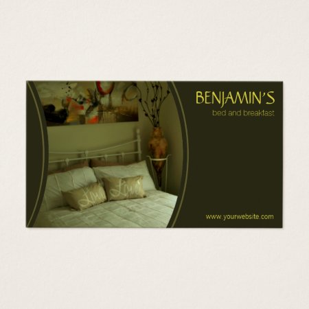 Modern Olive Green Bed and Breakfast Business Cards Template