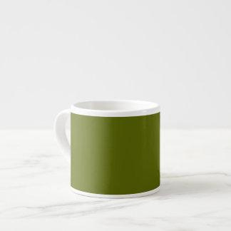 Olive Green Background on a Mug Espresso Mugs