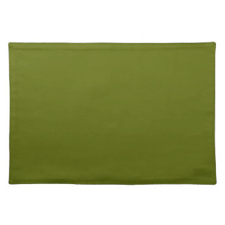 Olive Green Background on a Placemat