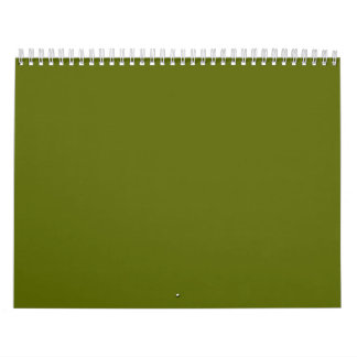 Olive Green Backgrounds on a Calendar
