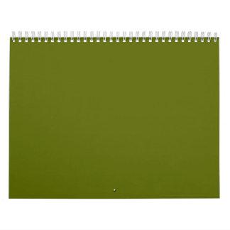 Olive Green Backgrounds on a Calendar
