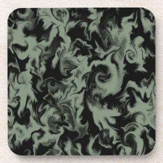 Olive Green & Black mixed color coaster