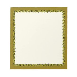 Olive Green Border on Notepad - 40 pages