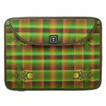 olive green brown fractal pattern sleeves for MacBooks