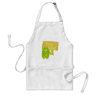 Olive Green Buy Local Adult Apron